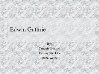 Edwin Guthrie
