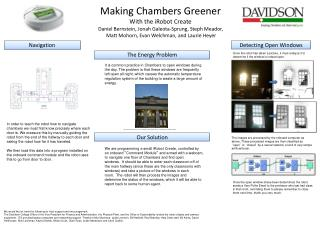 Making Chambers Greener With the iRobot Create