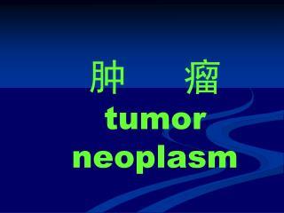 肿   瘤 tumor neoplasm