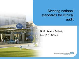 Meeting national standards for clinical audit