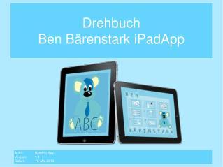 Drehbuch Ben Bärenstark  iPadApp