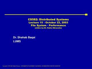 Dr. Shahab Baqai LUMS