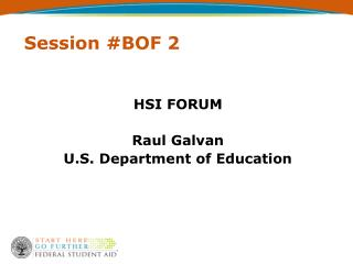 Session #BOF 2