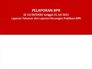 Laporan BPR
