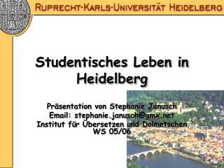 Studentisches Leben in Heidelberg