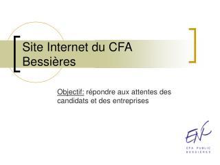 Site Internet du CFA Bessi�res