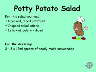 Potty Potato Salad