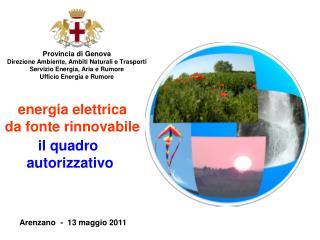 Provincia di Genova Direzione Ambiente, Ambiti Naturali e Trasporti