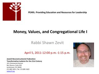 Money, Values, and Congregational Life I