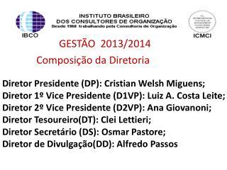 GEST�O  2013/2014  Composi��o da Diretoria