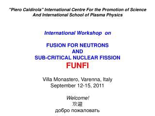 """Piero Caldirola"" International Centre For the Promotion of Science"