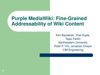 Purple MediaWiki: Fine-Grained Addressability of Wiki Content
