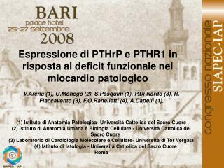 Espressione di PTHrP e PTHR1 in risposta al deficit funzionale nel miocardio patologico