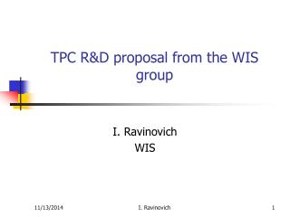 TPC R&D proposal from the WIS group
