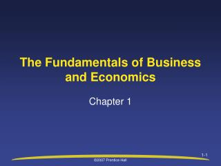 The Fundamentals of Business and Economics