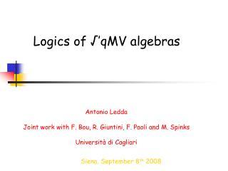 Logics of √'qMV algebras