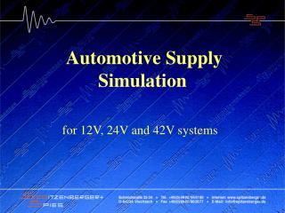 Automotive Supply Simulation