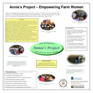 Annie�s Project � Empowering Farm Women