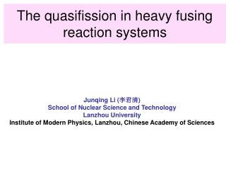 The quasifission in heavy fusing reaction systems