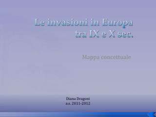 Le invasioni in Europa tra IX e X sec.