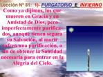 Lecci n N  81:  1- PURGATORIO  E  INFIERNO