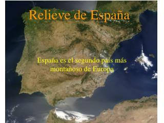 Relieve de Espa�a