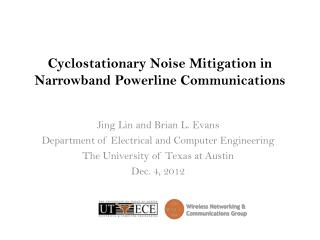 Cyclostationary  Noise Mitigation in Narrowband  Powerline  Communications