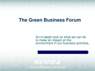 The Green Business Forum
