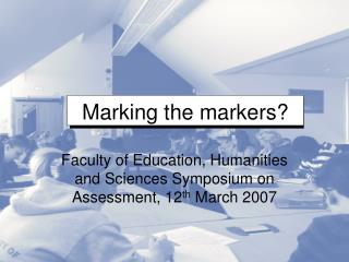 Marking the markers?
