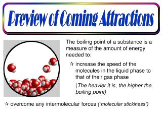The boiling point of a substance is a measure of the amount of energy needed to: