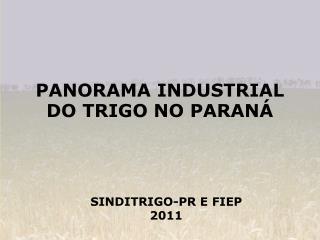 PANORAMA INDUSTRIAL DO TRIGO NO PARANÁ