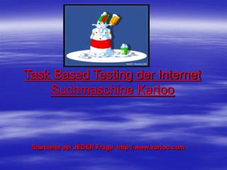 Task Based Testing der Internet Suchmaschine Kartoo