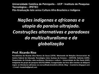 Universidade Católica de Petrópolis – UCP / Instituto de Pesquisa Tecnológica – IPETEC