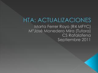 HTA: ACTUALIZACIONES