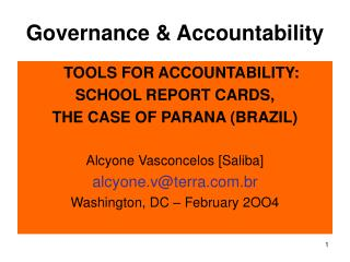 Governance & Accountability