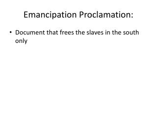 Emancipation Proclamation: