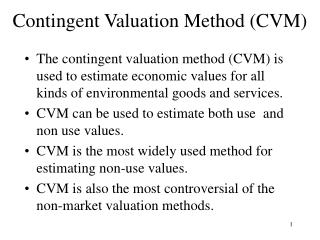 Contingent Valuation Method CVM