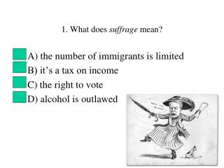 1. What does  suffrage  mean?