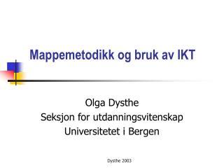 Mappemetodikk og bruk av IKT
