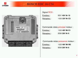 BOSCH EDC 16 C34