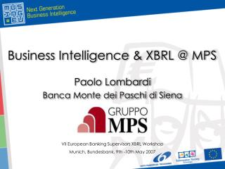 Business Intelligence & XBRL @ MPS