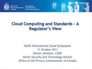 Cloud Computing and Standards - A Regulator's View