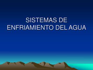 Sistemas de enfriamiento de agua industrial