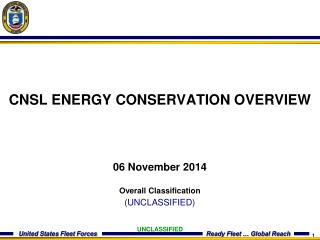 CNSL ENERGY CONSERVATION OVERVIEW