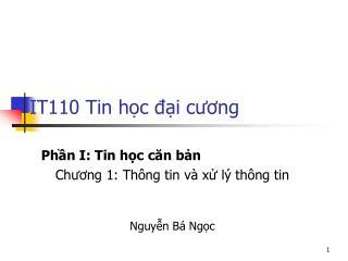 IT110 Tin học đại cương