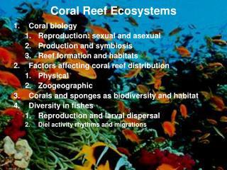 Week 9: Coral Reef ecology