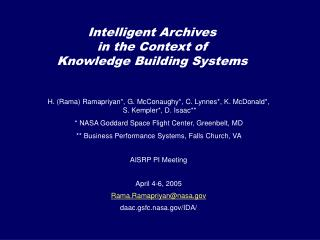 Intelligent Archives in the Context of Knowledge Building Systems