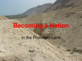 Becoming a Nation