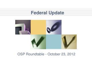 Federal Update