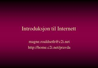 Introduksjon til Internett